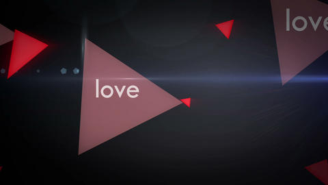 Love Motion Graphic Looping Animation Background Stock Video Footage