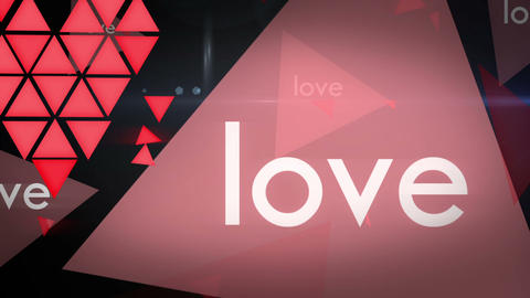 Love Motion Graphic Looping Animation Background Animation