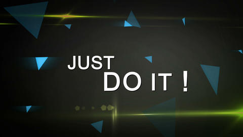 Just Do It ! Looping Animation Stock Video Footage