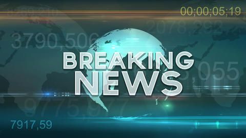 Breaking News Motion Graphic stock footage