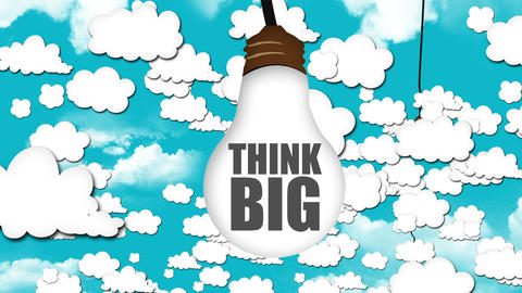 Think Different be Creative Looping animation Animation
