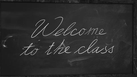 Welcome to the class - study begin Animation
