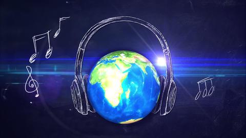 Universal Music Melody Blackboard Looping Animatio Animation