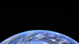 Rotating Earth Lower Third Loop stock footage