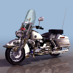 3D Model By Police Motorcycle stock footage