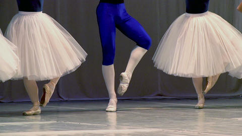Four Ballerinas and Ballet Dancer Footage
