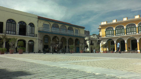 Old square,plaza vieja, in havana,cuba Footage