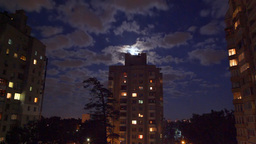 Moon Night Clouds stock footage