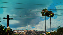 Hollywood Sign Timelapse 3 stock footage