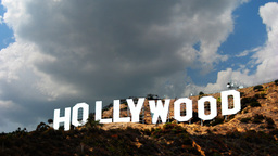 Hollywood Sign Time-lapse 1 Day Clouds stock footage