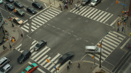 Intersection Time-Lapse Toronto stock footage