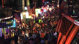 Bourbon Street 4th Of Julyv stock footage