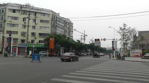Jintang Town Chengdu Area Sichuan China 50 street  Footage
