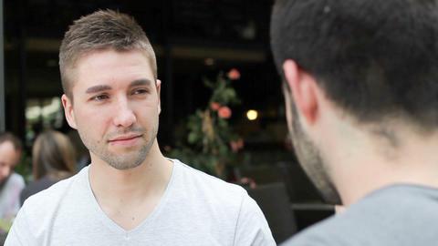 Video Portrait Of A Confident Man stock footage