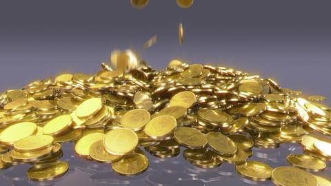 Coins fall Animation