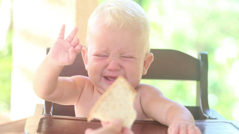 baby stop crying bread Footage