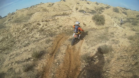 Sport Motocross Exciting Racing Exciting Tough Adv stock footage