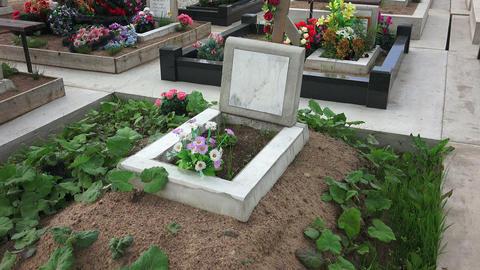 Orthodox Christian cemetery. 4K Footage