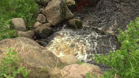 A wild river stones. 4K Footage