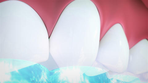 Teeth cleaning Animation
