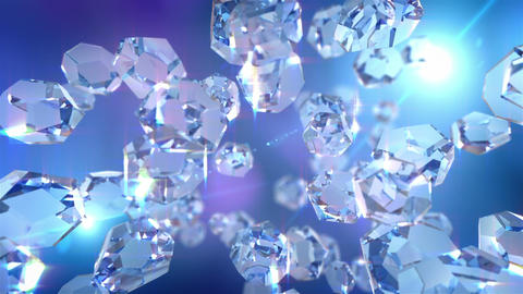 Crystal loopable background Animation