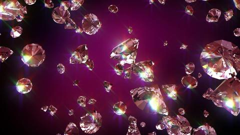 Falling diamonds Animation