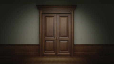 Door opening with chroma key CG動画素材