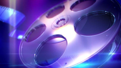 Film Reel Loopable Background Animation