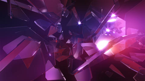 Loopable crystal glass. Abstract background Animation