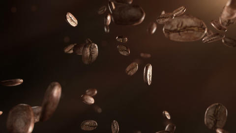 Coffee beans flight Animation