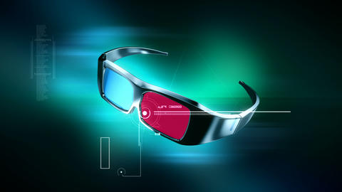 3D Anaglyph Glasses animation Animation