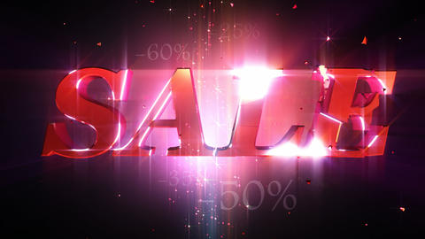 """""""Sale"""" Loopable animation Stock Video Footage"""