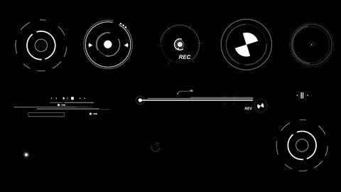 Futuristic Interface Elements Stock Video Footage