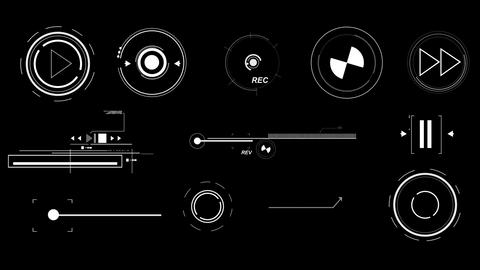 Futuristic Interface Elements Animation