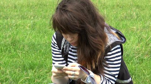 Elegant Beautiful Woman Texting on Smartphone, clo Footage