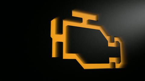 car check engine light blinking pan HD Animation