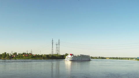 Passenger ships river cruise time Lapse Footage