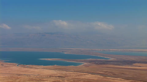 Dead Sea view from the mountain top Footage