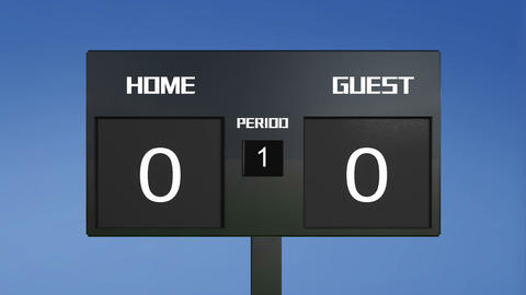 soccer match scoreboard win period 2 sky Animation