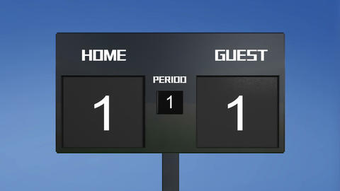 soccer match scoreboard random result sky Animation