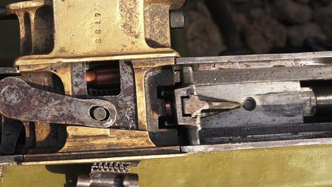 Shutter. Striking mechanism. The machine gun. The  Footage