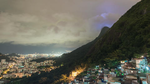 Time lapse of clouds obscuring Rio de Janeiro's Christ statue Footage