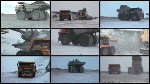 Video Wall Mining Industry Process, 4K 9 screens s ビデオ
