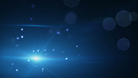 shining blue particles and lens flare loopable bac Animation