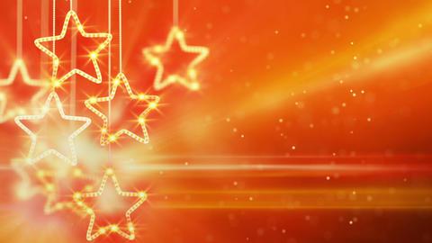 orange hanging stars loop background Footage