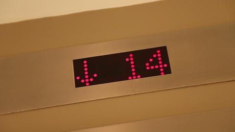 Elevator rides down Footage