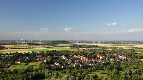 West German Wind Energy Landscape Timelapse ビデオ