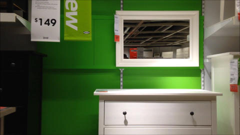Fast motion with people shopping their furniture Stock Video Footage