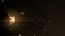 Asteroid belt A Animation