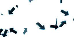 Blue Arrows On White, Moving In Chaos stock footage